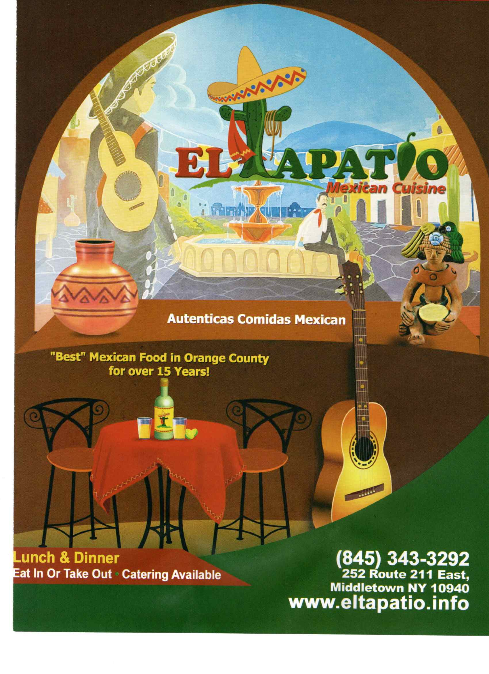 El Tapatio Menu Cover
