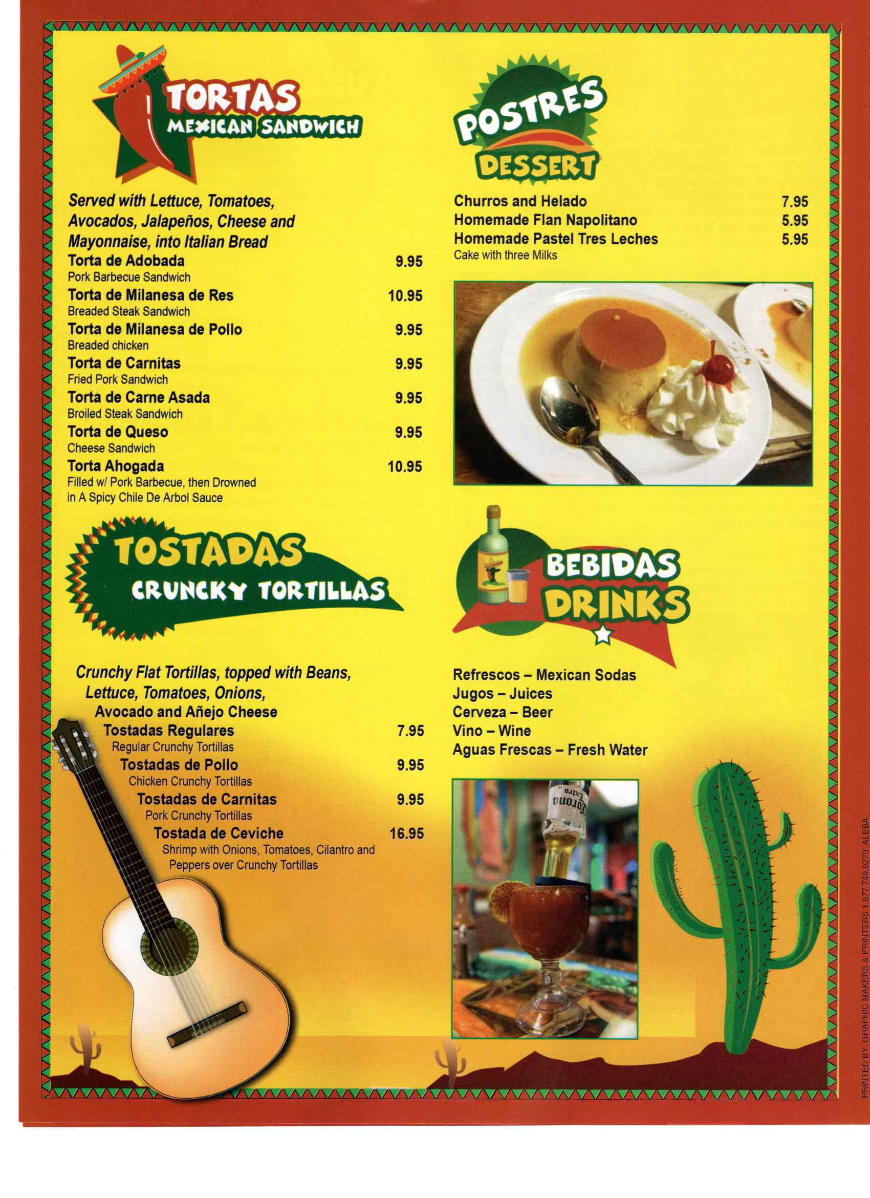 El Tapatio Menu Page 3